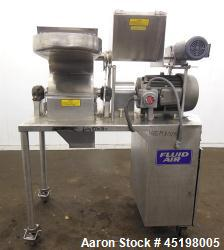 Used- Stainless Steel Fluid Air Impact/Screening Mill, Model 014