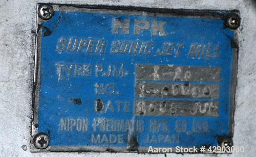 Used-NPK Supersonic Jet Mill, Model PJM-1-10, Stainless Steel.