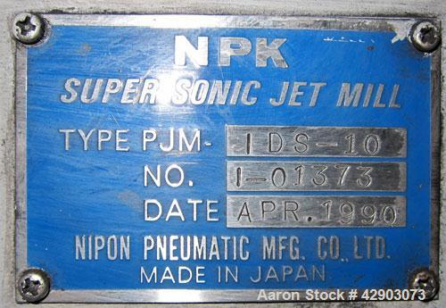 Used-NPK Supersonic Jet Mill, Model PJM-1DS-10, Stainless Steel.