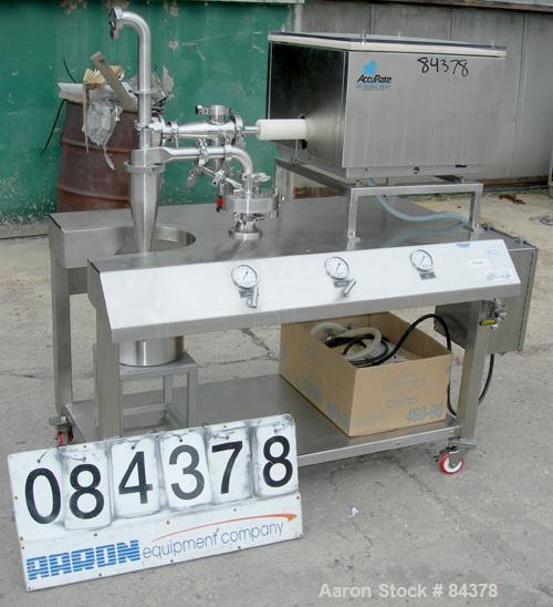 "Used- Sturtevant Sanitary Micronizer, Model 4SDM, Sanitary Design, 304 stainless steel. 4"" diameter chamber. Requires 55 com..."