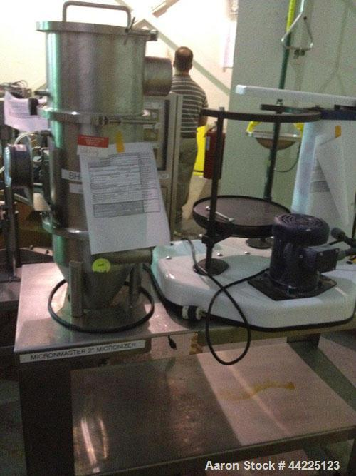 Used- Sturtevant Micronizer Pulverizer, Model Q. Stainless steel construction, with Ktron feeder and dust collector, mounted...