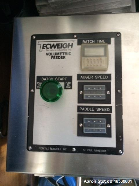 Used- Sturtevant SDM4 Micronizer, Stainless Steel. (1) SDM4 table, parts and accessories. (1) Technweigh S5 Volumetric Feede...