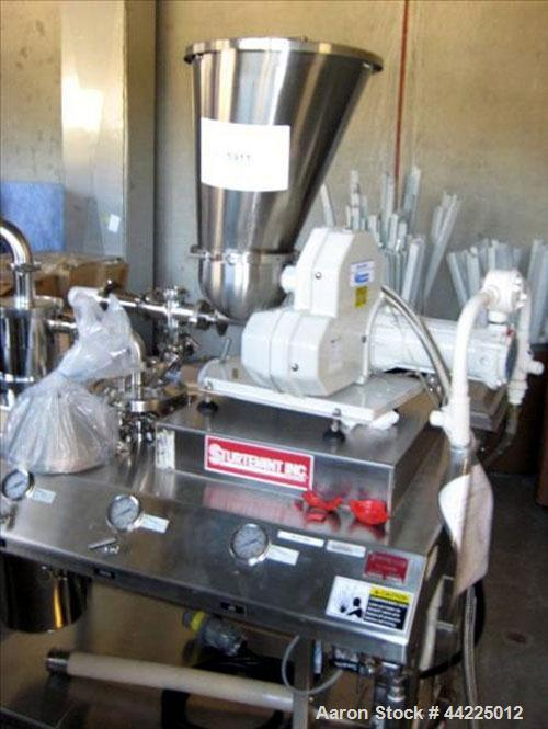 Used- Sturtevant Micronizer, Model SSC4. With K-Tron model K2MVT20 feeder, 1/2 hp xp. Cyclone fines collector, on a stainles...