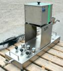 USED: Fluid Energy Aljet mill, 316 stainless steel. Top feed with hopper. 2