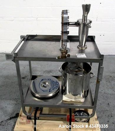 Used- Trost Mill, Model TX-1, Stainless Steel. Includes a cyclone collector, hopper, and cart. Serial# 62295.