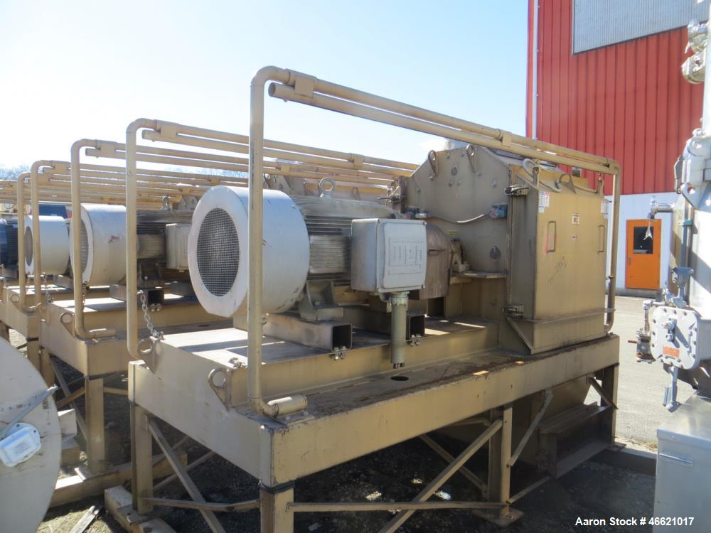 "Used- Bliss Eliminator Hammer Mill, Model EMFD 4840-TFA. 48"" Diameter x 40"" wide grinding chamber, on unitized base with 300..."