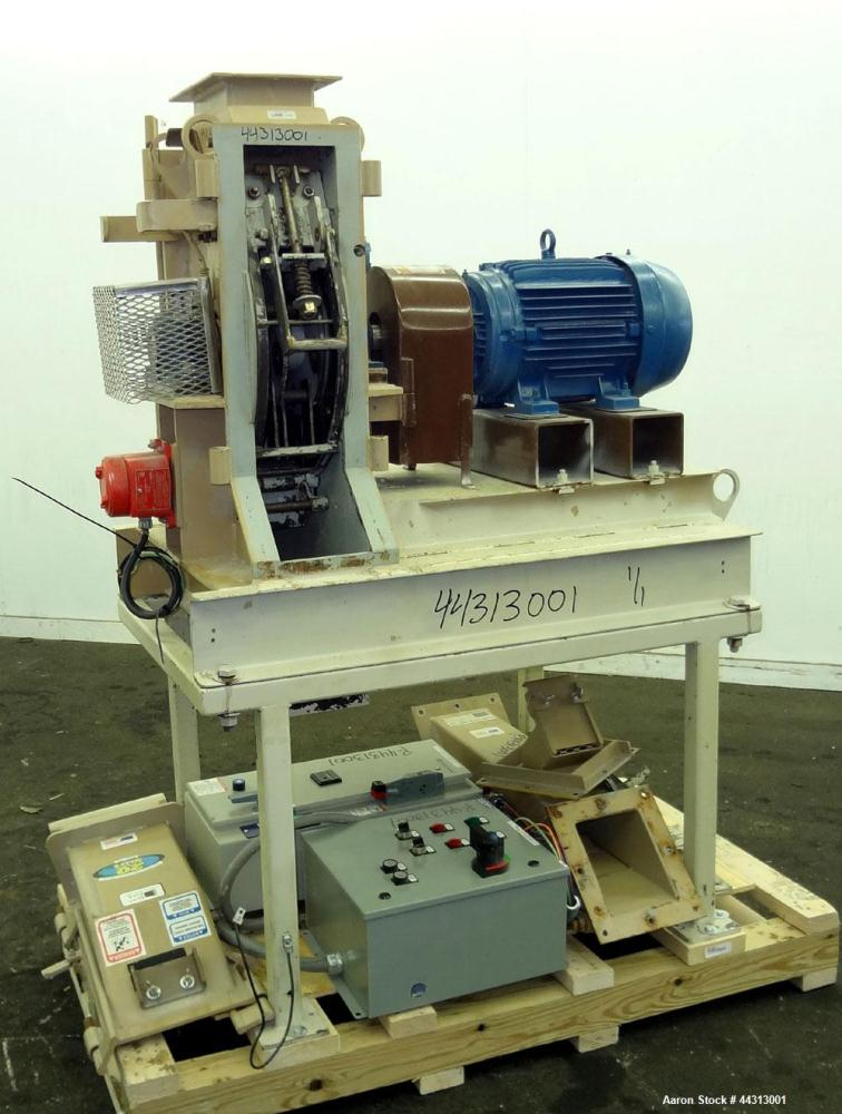 "Used- Bliss Industries Eliminator Relief Hammer Mill, Model ER-1906-TF, Carbon Steel. 9"" x 6"" Top feed with chute, bottom di..."