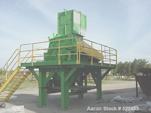 """USED: Broer 1998 model 3536E shredder. 35"""" diameter rotor x 36"""" wide,vertical feed, 125 hp electric drive. Other motors avai..."""