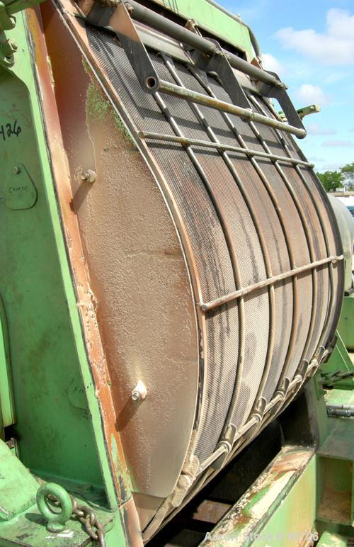 """USED: Champion hammermill, model HM54-48, carbon steel. Approximate 54"""" diameter x 48"""" wide rotor with (6) rows of (24) 2-1/..."""