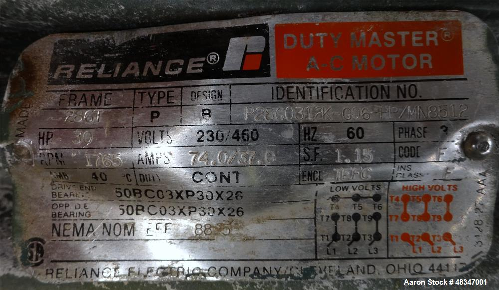 Used- Entoleter Centrifugal Impact Mill, Model 27-2 LCBP, Carbon Steel.