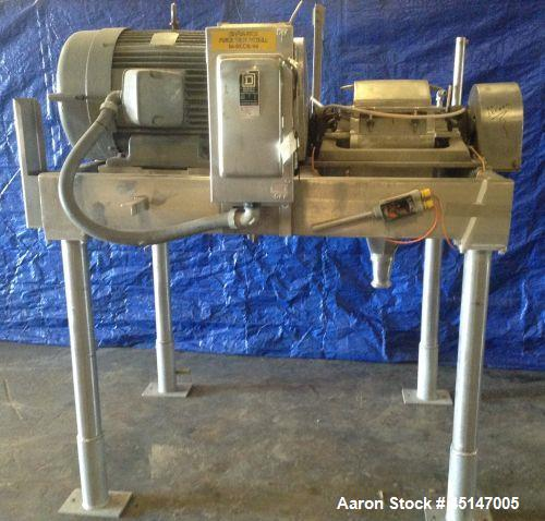 """Used- Fitzmill Hammermill ,Model FAS012, 2600 Series. Currently installed with 24 blades, 2"""" threaded infeed, 3"""" I-line disc..."""