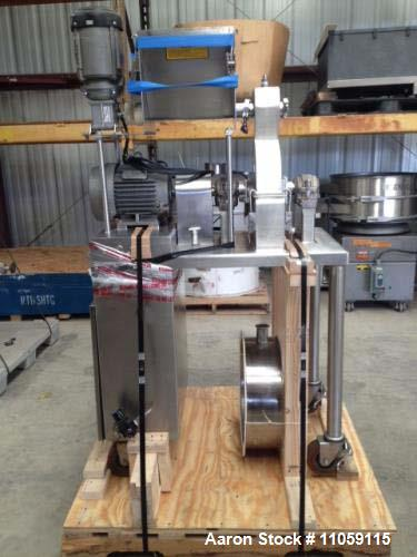 "Used- Fluid AirImpact / Screening / Hammer Mill, Model 003. Stainless steel. Stainless steel fixed rotor with bars, 4"" x 15""..."