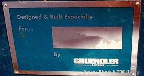 Used- Gruendler Vertical Refuse Shredder, Model 48HRSVS