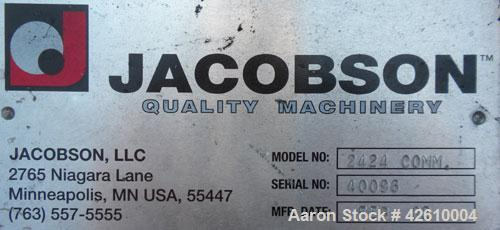 """Used- Jacobson Commander Half Circle Hammer Mill, model 2424, carbon steel. Approximate 24"""" diameter x 24"""" wide rotor with 1..."""