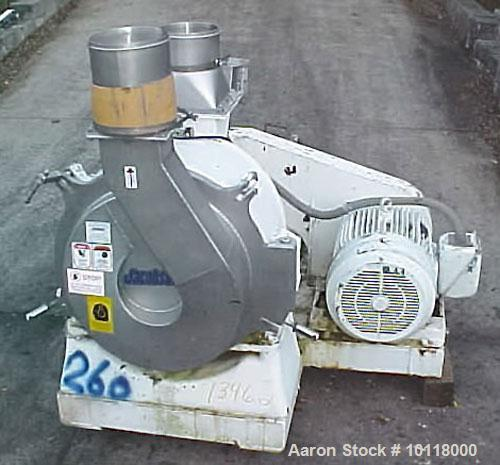 Used-Jacobson Stainless Steel Air Swept Pulverizer, Model 28-H. Features all stainless steel contact surfaces with polished ...