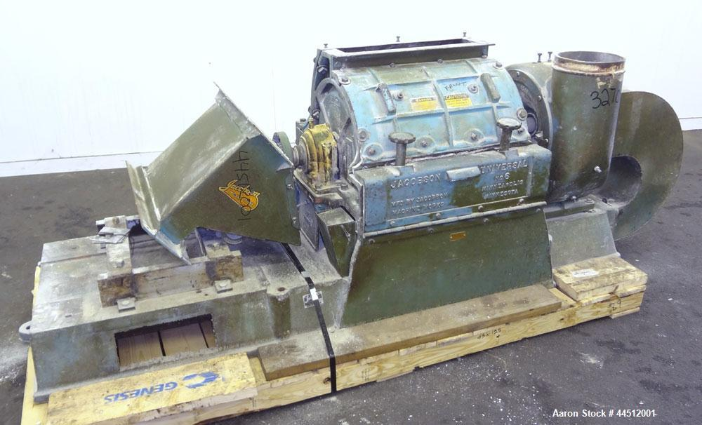 Used- Jacobson Size 6 Universal Hammermill, Model L6DCE10