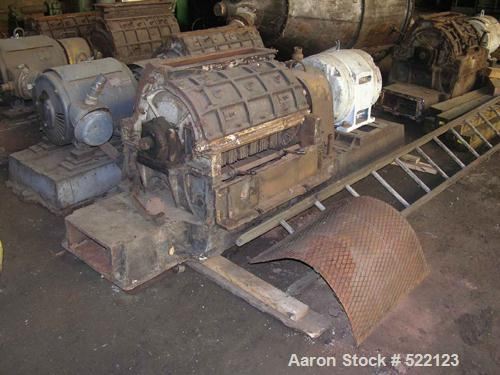 """USED: Jacobson hammer mill, type Universal, size #8, carbon steelconstruction. 5"""" wide x 30"""" long feed opening, on base with..."""