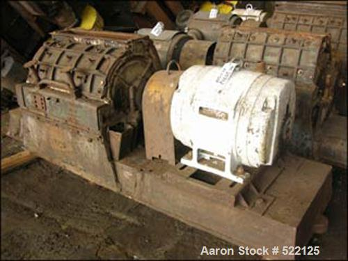 "USED: Jacobson hammer mill, type Universal, size #8, carbon steelconstruction. 5"" wide x 30"" long feed opening, on base with..."