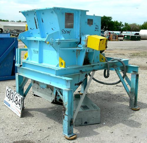 "USED: Magnatech Engineering Hammermill, model 24X30HMDR, carbon steel. 19"" x 32"" top feed, no hopper, bottom discharge. (4) ..."