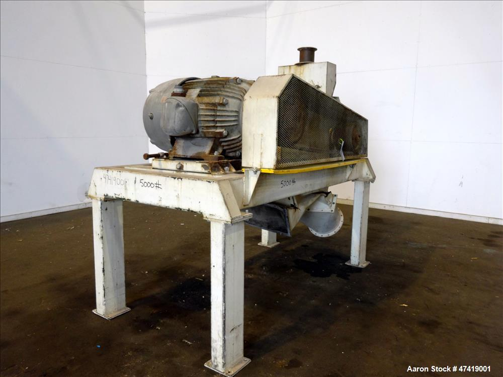 Used- Mikro Pulverizer Hammer Mill, Type 44 MP, Carbon Steel.