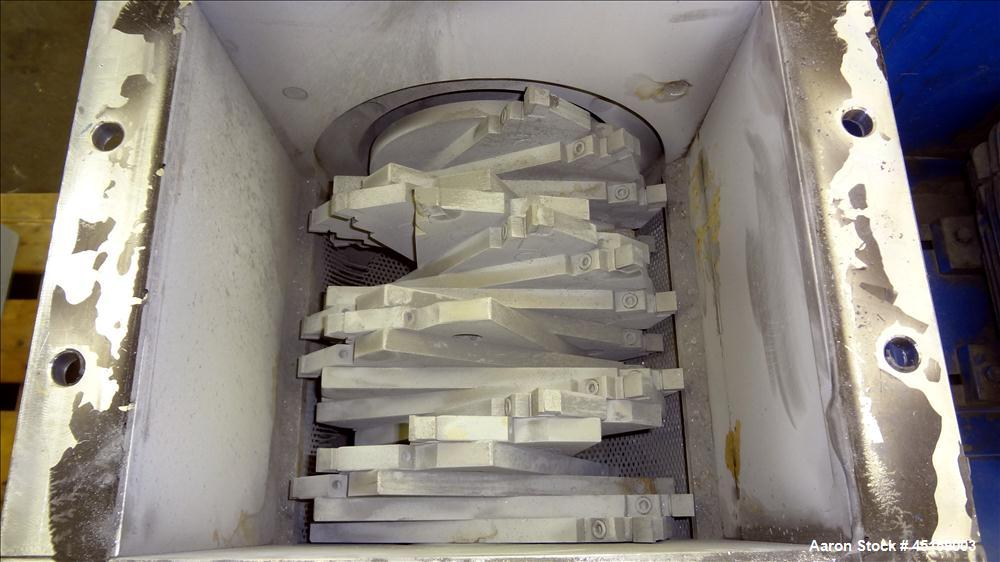Used- Stainless Steel Munson Machinery Screen Classifying Cutter, Type SCC10-SS