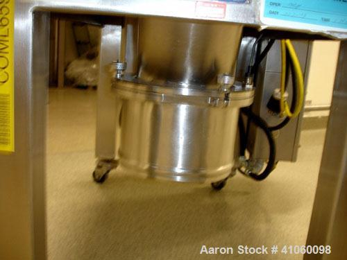 """Used- Quadro Comil, Model 194-S, stainless steel construction, 8"""" diameter screen, on legs with 5 hp, 230/460 volt motor, se..."""