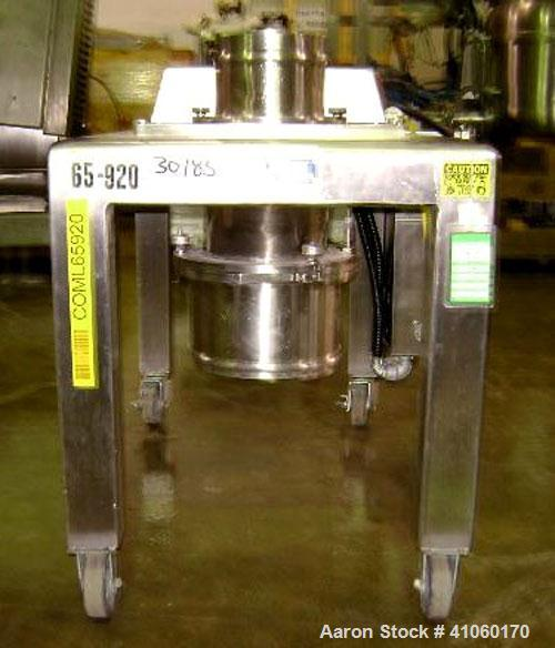 """Used- Quadro Comil, Model 194-S, Stainless Steel. 8"""" diameter screen, on legs with 5 hp, 230/460 volt motor. Serial #0223."""