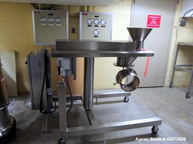 Used- Quadro Comil, Model 194. Stainless steel construction, with feed hopper on cantilievered stainless steel base, serial#...