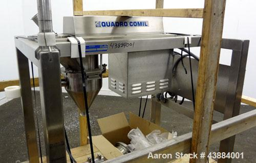 "Used- Quadro Comil, Model 194 Ultra, 316/304 Stainless Steel. Approximately 8"" diameter impeller, with screens. Approximate ..."