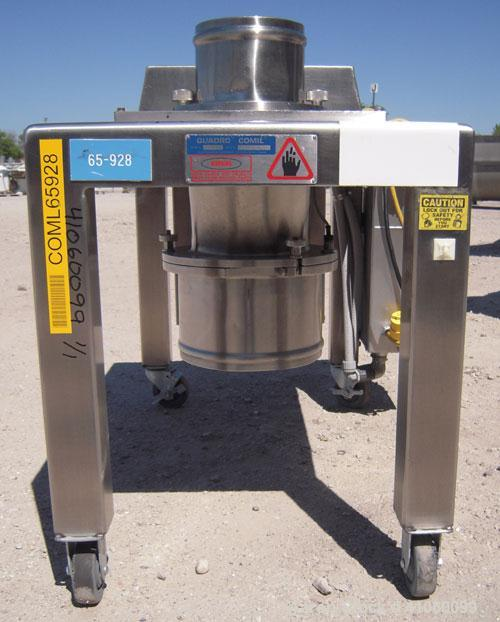 "Used- Quadro Comil, Model 194S, 316 Stainless Steel. Approximate 8"" diameter impeller screen, approximate 1/8"" diameter scre..."