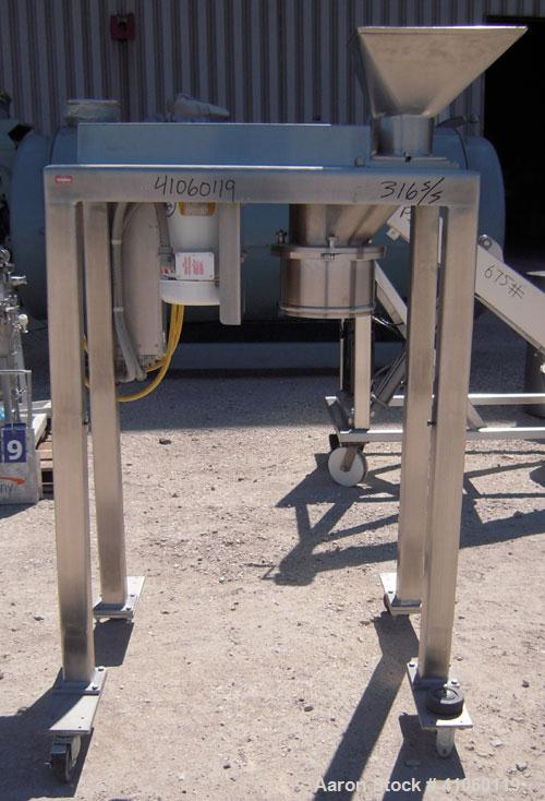 "Used- Quadro Comil, Model 194S, 316 stainless steel. Approximate 8"" diameter impeller, no screen, Approximate capacity up to..."