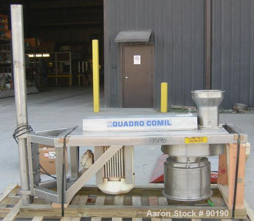 "Used- Quadro Comil, Model 196 Ultra, 316 stainless steel. Approximate 12"" diameter screen, approximate capacity up to 8000 p..."