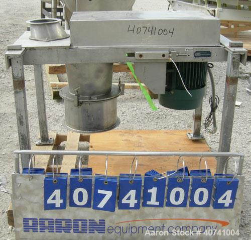 "Used- Quadro Comil, model 196, 304 stainless steel. Approximate 10"" diameter screen, approximate capacity up to 8000 pounds ..."