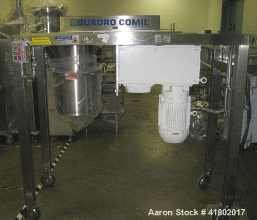 "Used- Quadro Comil, Model 196, Stainless Steel. Approximate 10"" diameter screen, Approximate capacity up to 8000 pounds an h..."