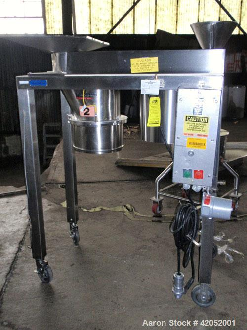"Used- Quadro Comil, Model 196S, Stainless Steel. Approximately 12"" diameter screen. Approximate capacity up to 8000 pounds a..."