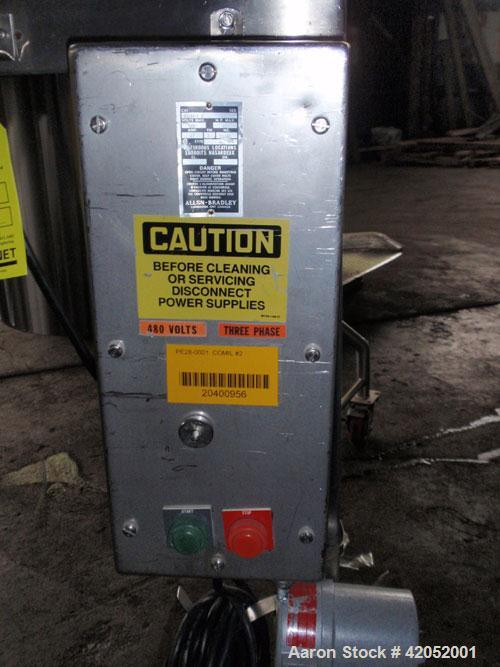 """Used- Quadro Comil, Model 196S, Stainless Steel. Approximately 12"""" diameter screen. Approximate capacity up to 8000 pounds a..."""