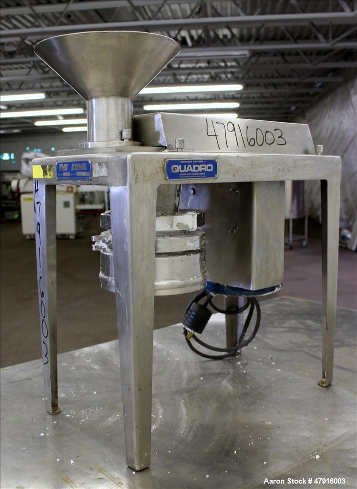 Used- Quadro Comil, 304 Stainless Steel, Model 197-T.