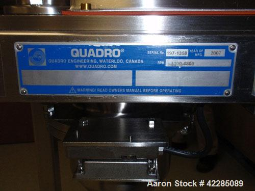 Used- Quadro Comil, Model 197. Stainless steel construction, on base with beater, serial# 1358.