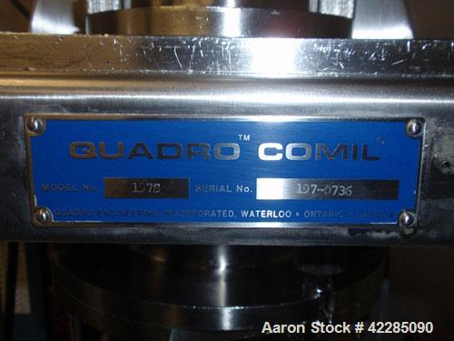 Used- Quadro Comil, Model 197S. Stainless steel construction, on base with beater, 1HP, 90 volt DC motor with controller, se...