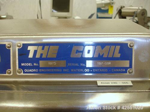 Used- Quadro Comill, Model 197S, Stainless Steel. Cantilevered design on portable base with 1 hp DC motor with SCR controlle...