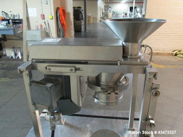 Used- Quadro Comil, Model 197S, Stainless Steel. With beater and screen. Mounted on portable cart with 1hp, 230/460 volt XP ...