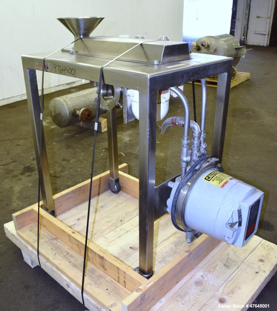 "Used- Quadro Comil, Model 197S, 316 Stainless Steel. Approximate 5"" diameter impeller with screen. Approximate capacity up t..."
