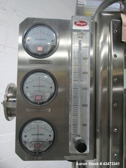 Used- Quadro Comil, Model U10, Stainless steel. Unit is mounted in isolator. Quadro includes a beater and screen, direct cou...