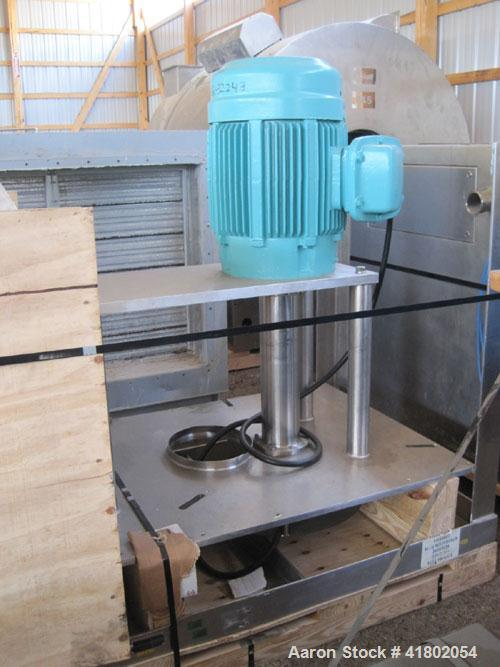 "Used- Quadro Cone Mill, Model 198, Stainless Steel. 25 hp 230/460 volt XP motor. Perforated screen with approximately 3/8"" X..."