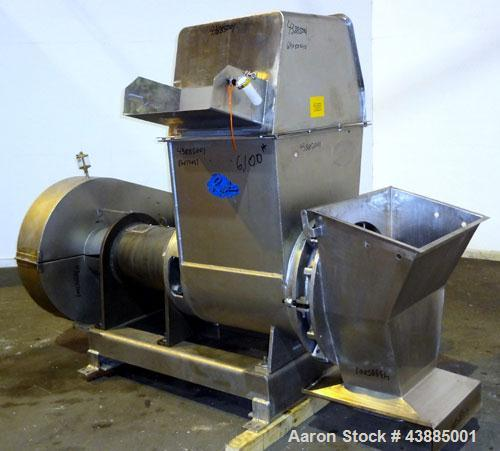 "Used- Rietz Bepex Extructor, Model RE-24-K9E933, 304 Stainless Steel. 24"" Diameter blade, end orifice plate with discharge c..."
