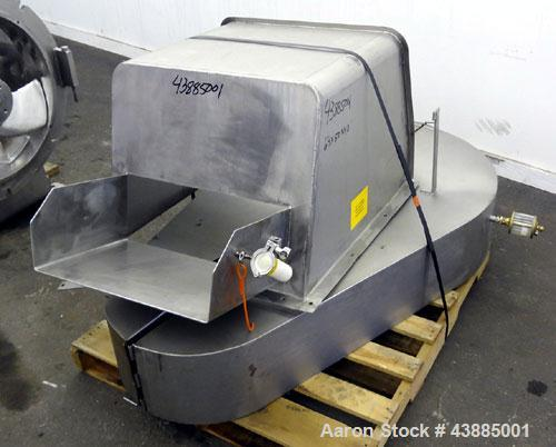 """Used- Rietz Bepex Extructor, Model RE-24-K9E933, 304 Stainless Steel. 24"""" Diameter blade, end orifice plate with discharge c..."""