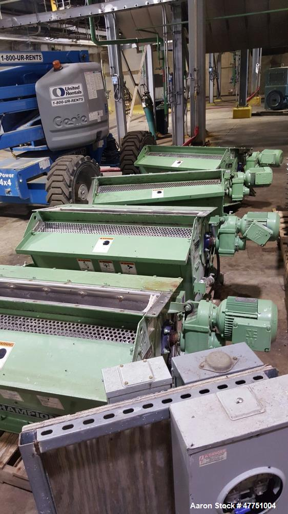 Used- Roskamp Champion Hammermill, Model 48 x 38. 1500 BPH at 45 pcf. #2 yellow corn with #7 and #8 screens. 5,148 sq. in. s...