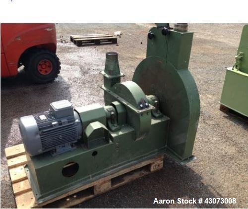Used- Ruberg Hammer Mill. Throughput: ca 1.1 t/h (1000 kg/h) wheat husks. (5) rows of (3) hammers. 2900 rpm. Sieve with adju...