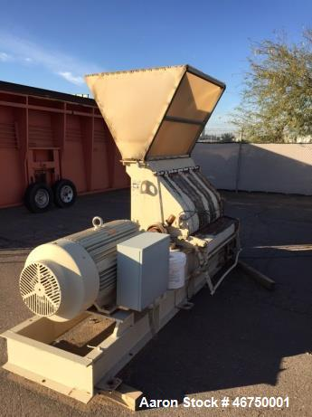 "Used- Schutte Buffalo Hammer Mill, Model 13100. 200 HP 3/60/460/3600 TEFC Motor, direct connected with guard. Mill is 48"" wi..."