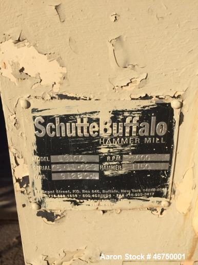 """Used- Schutte Buffalo Hammer Mill, Model 13100. 200 HP 3/60/460/3600 TEFC Motor, direct connected with guard. Mill is 48"""" wi..."""